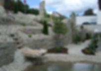 Steingarten Anlage bei der Firma Baumann
