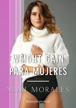 WEIGHT GAIN PARA MUJERES