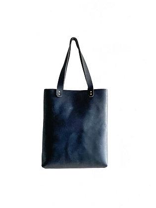 Everyday  Leather Tote - Dark Blue