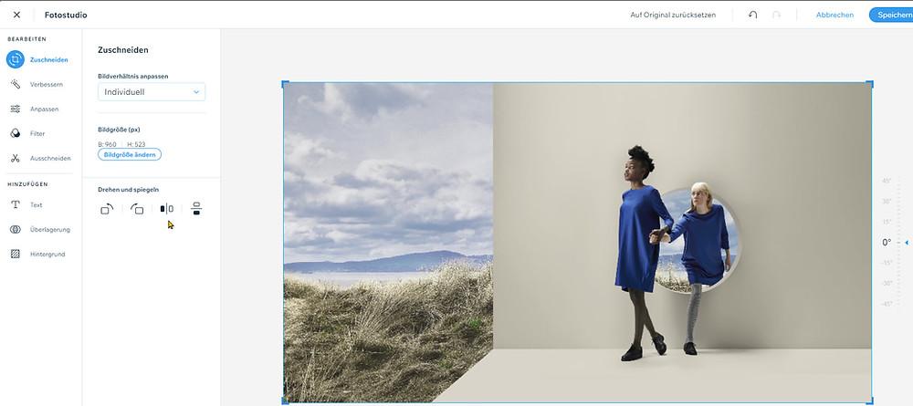 Integrierte Bildbearbeitung mit dem Fotostudio