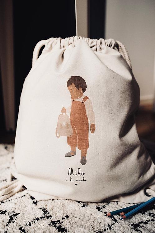 Sac à dos Garçon Terracota avec sac (personnalisable)