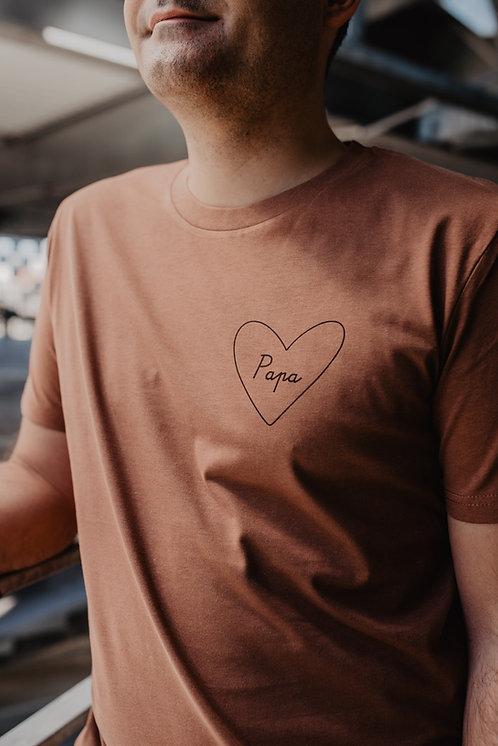 Tee-shirt mon coeur homme Terracota