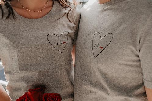 Tee-shirt Mon Coeur femme gris