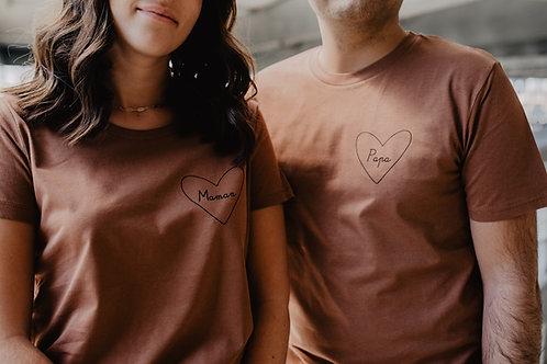 Tee-shirt mon coeur femme Terracota