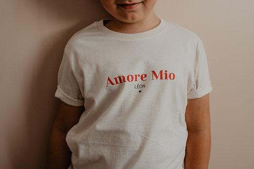 """Tee-shirt beige """"les jolis mots"""" Bébé ou Enfant"""