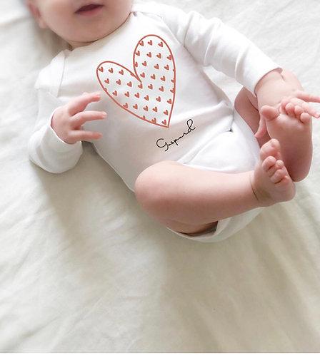 Body bébé COEUR imprimé