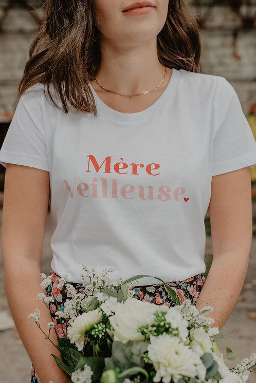 T-Shirt Mère Veilleuse rouge/rose