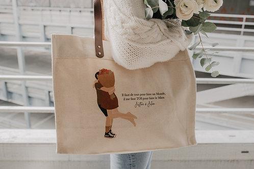 Big bag anses en cuir Dans tes Bras collab retour de plage