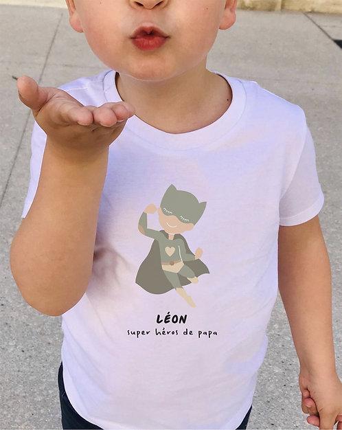 Tee-shirt Super Héros enfant ou bébé collab @retourdeplage