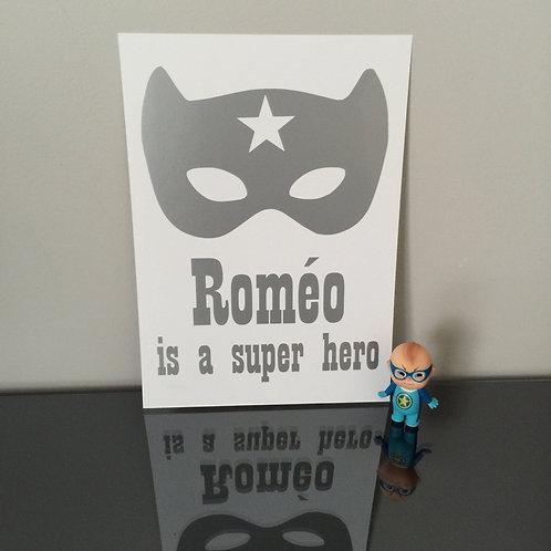 Affiche Super Hero (+ Couleurs)