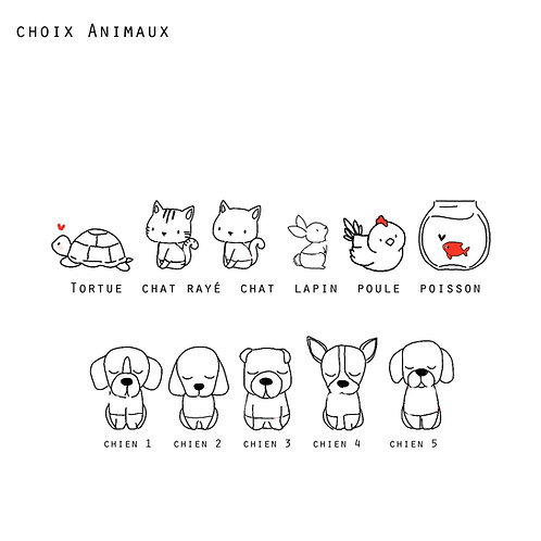 Option famille AMOUR - Animaux
