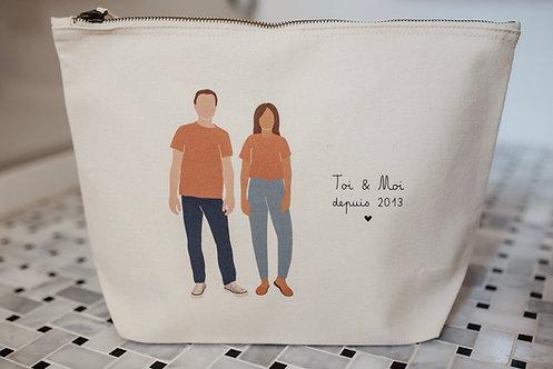 Trousse personnalisable Couple Intemporel collab retour de plage