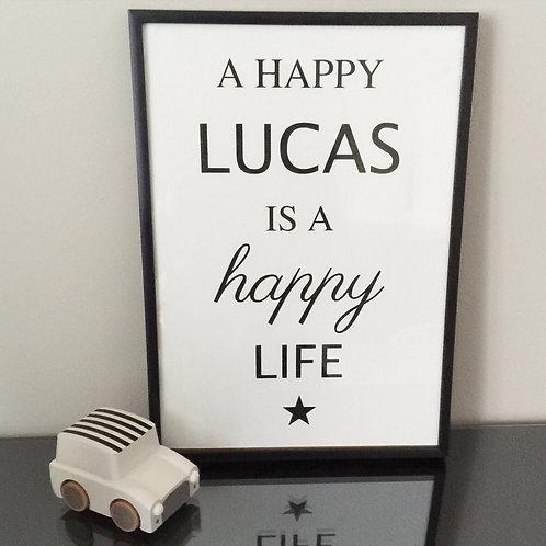 Affiche happy life (+ Couleurs)