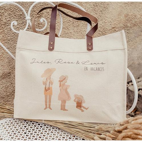 Big bag Anses en cuir SUMMER 2 enfants et plus