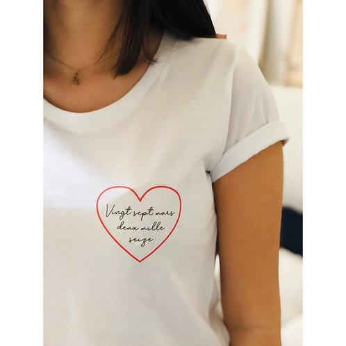 T-Shirt Date personnalisable Femme