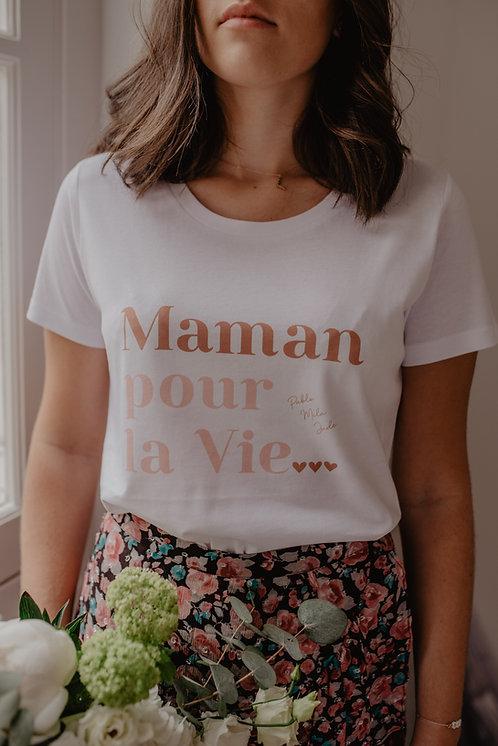 T-Shirt Maman pour la vie terracota/rose