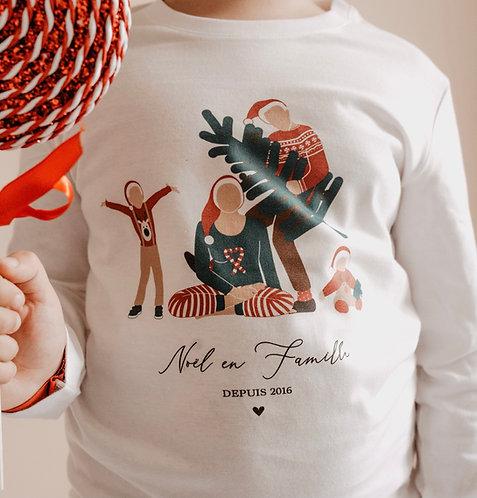 Tee-shirt de Noel Tribu Enfant ou Bébé