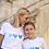 Thumbnail: T-Shirt solidaire Enfant ou Bébé Coeurs Bleus