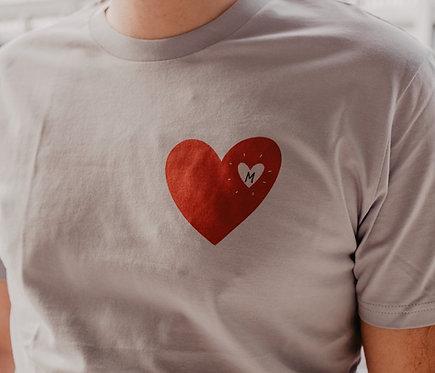 "Tee-shirt bleu ciel UNISEXE ""coeur qui pétille"""