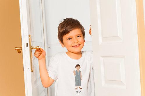 T-shirt Garçon bleu (personnalisable)