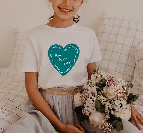 T-shirt Enfant ou bébé l'amour ne se divise pas