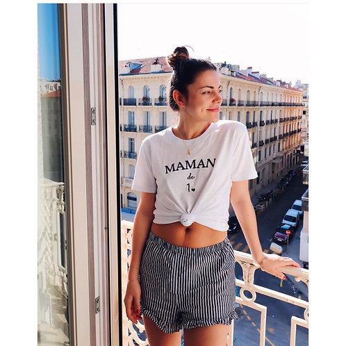T-Shirt COEUR Femme blanc