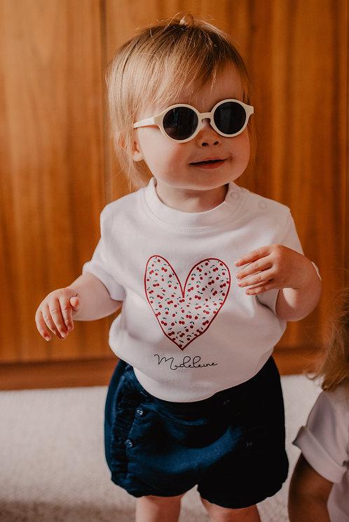 T-Shirt Bébé ou Enfant COEUR imprimé