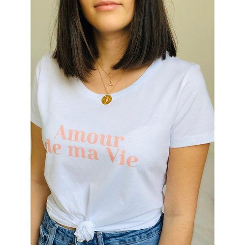 T-Shirt AMOUR DE MA VIE Femme blanc