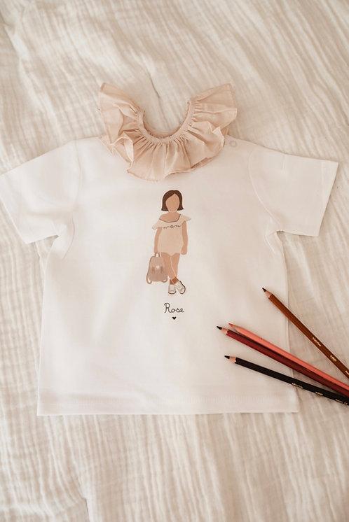 T-shirt Fille Combinaison avec sac (personnalisable)