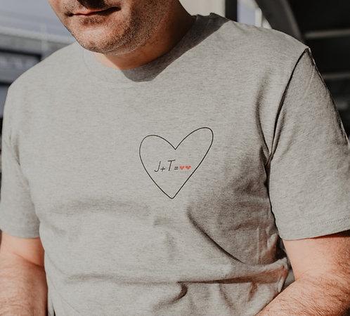 Tee-shirt Mon Coeur homme Gris