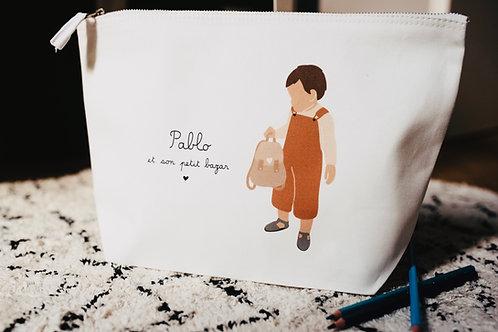 Trousse Garçon Terracota avec sac (personnalisable)