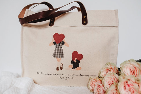 Big bag Anses en Cuir T'offrir mon Coeur