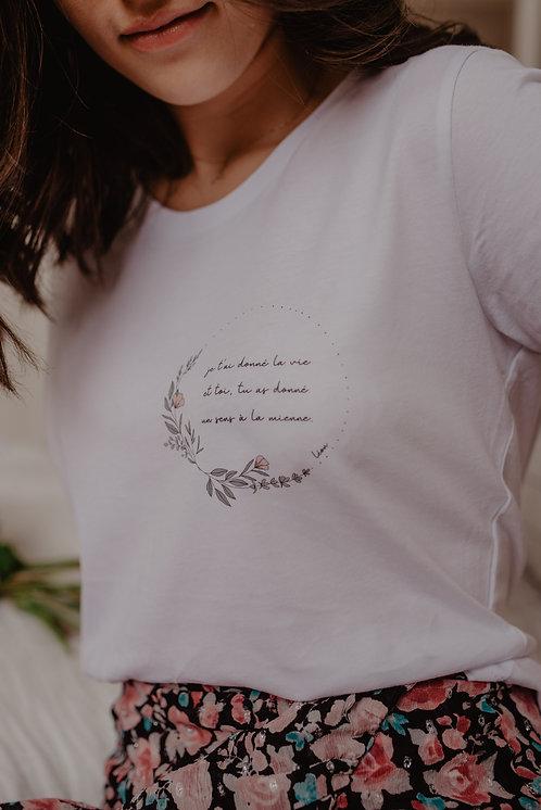 T-shirt LA VIE personnalisable
