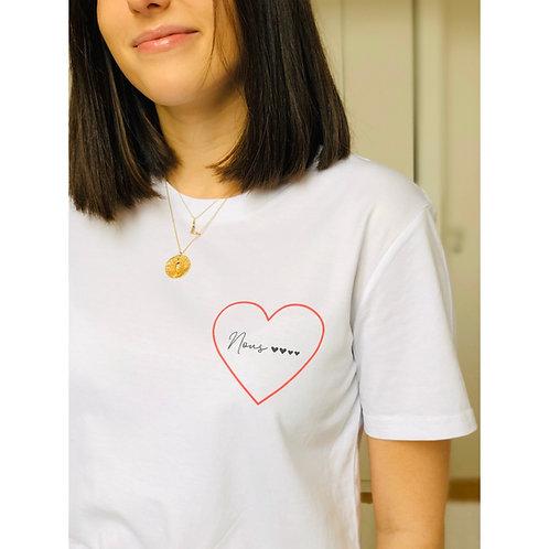T-shirt petit coeur Femme personnalisable