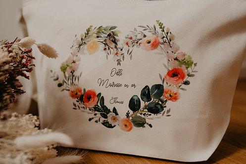 Trousse Personnalisée Coeur en fleurs