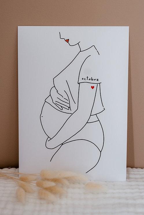 Affiche A4 Dans ma peau Maman Enceinte