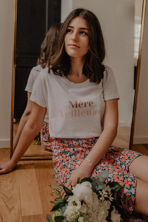 T-Shirt Mère Veilleuse terracota/rose