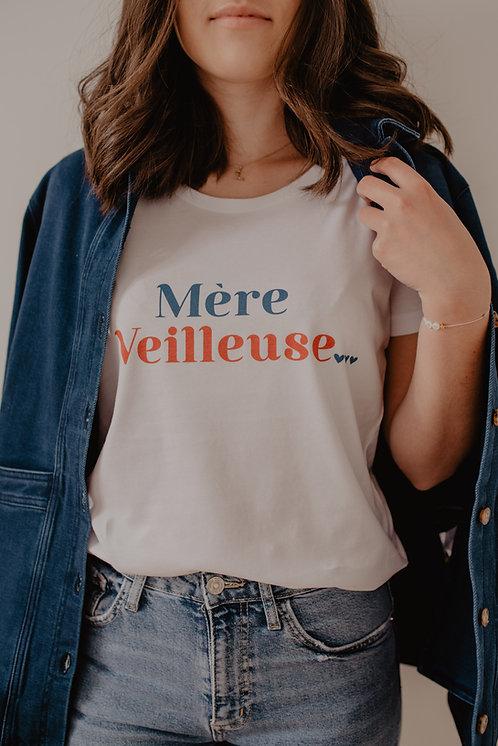 T-Shirt Mère Veilleuse bleu/rouge
