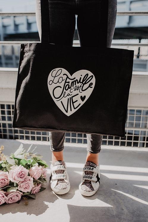 Big bag Noir La Famille c'est la Vie
