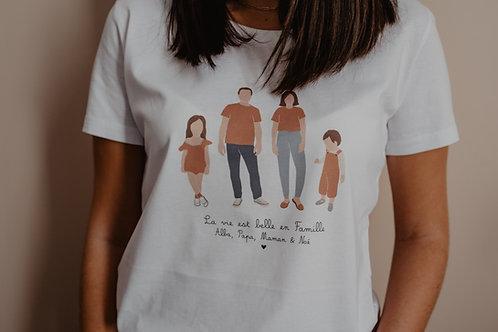 Tee-shirt personnalisable Tribu UNISEXE Intemporel collab retour de plage