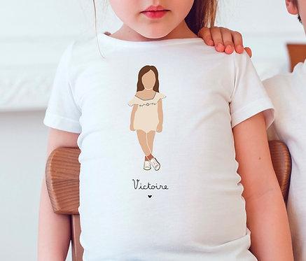 T-shirt Fille Combinaison (personnalisable)