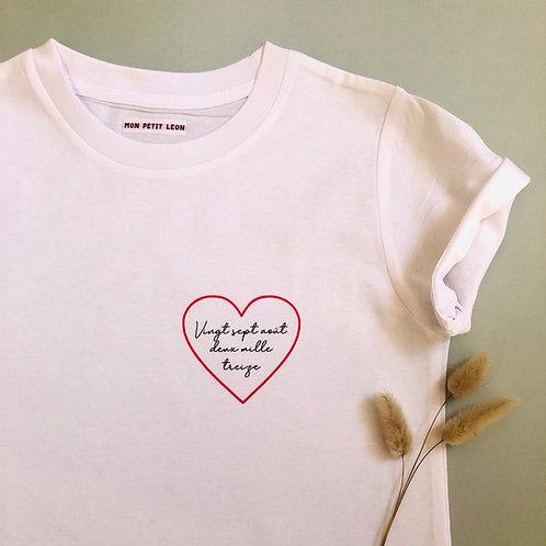 T-Shirt Enfant Date personnalisables