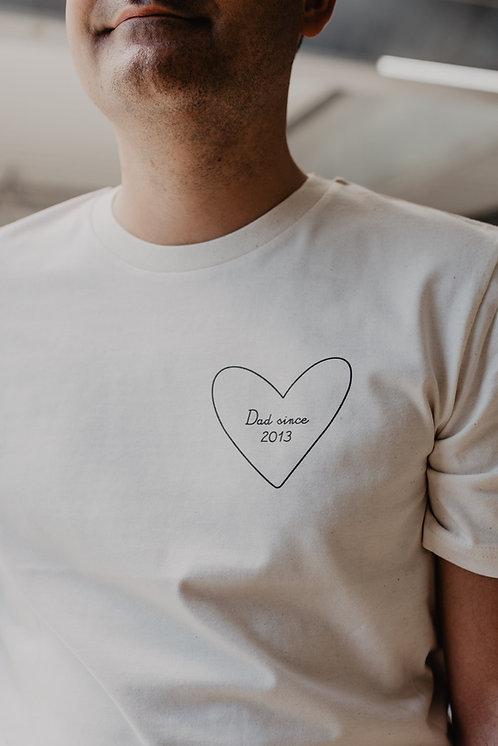 Tee-shirt mon coeur homme Beige
