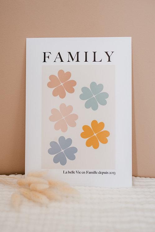 Affiche A4 FAMILY Porte-Bonheur