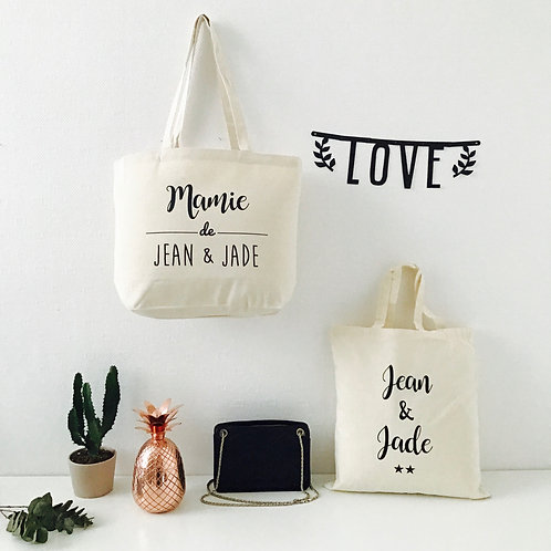 Tote bag plus Mamie Maman Papa Marraine...