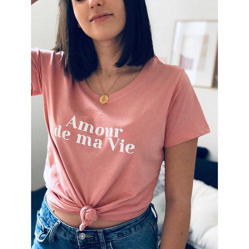 T-Shirt AMOUR DE MA VIE Femme rose