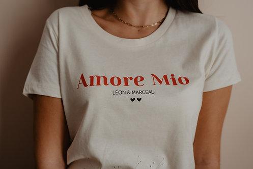 """T-shirt beige """"les jolis mots"""" femme"""