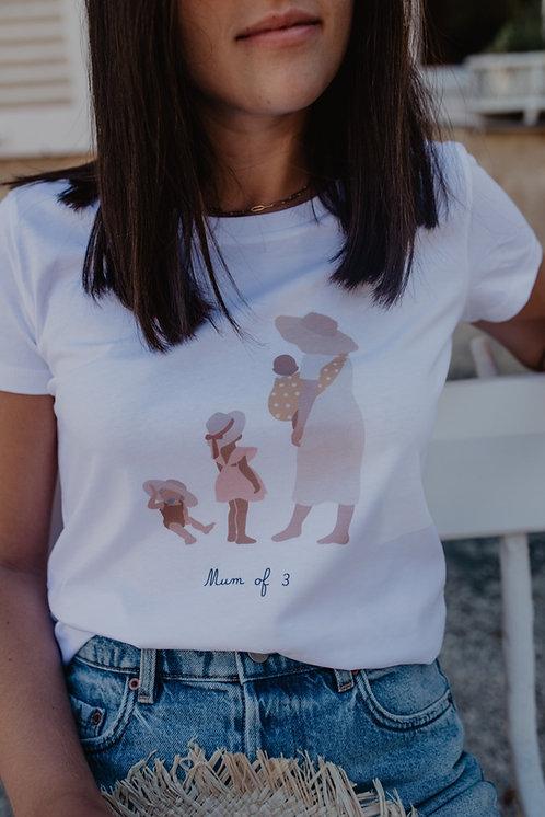 Tee-shirt Mum of collab retour de plage