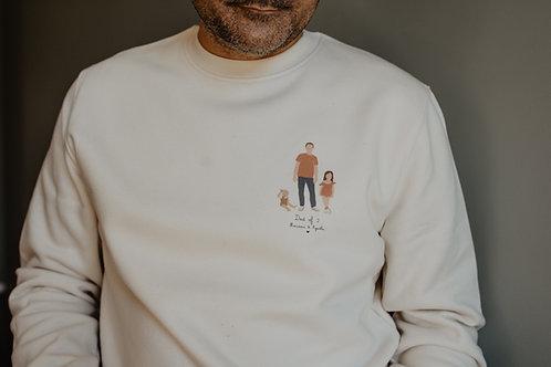 Sweat-shirt personnalisable Dad of Intemporel collab retour de plage