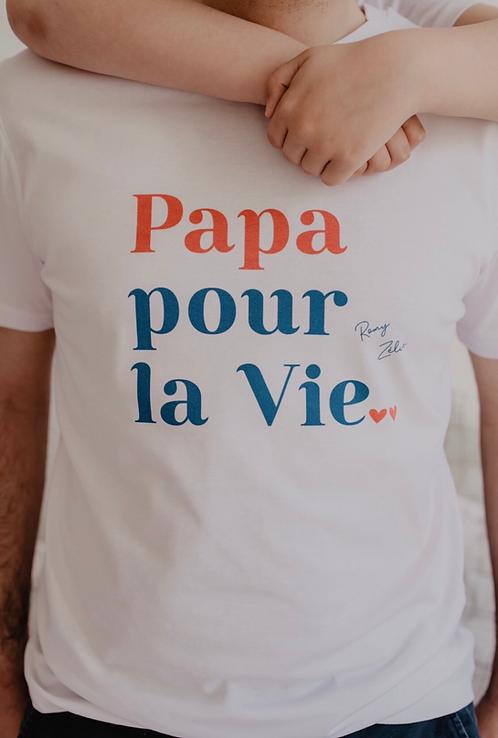 T-Shirt Papa pour la vie